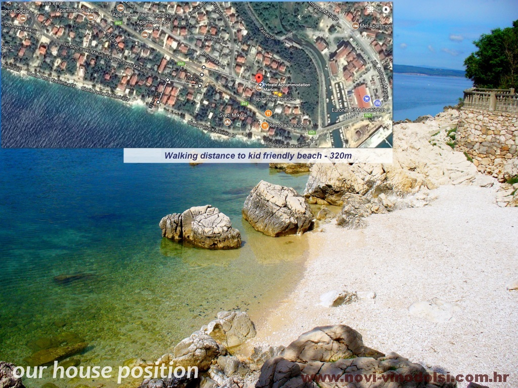google map from house till beach