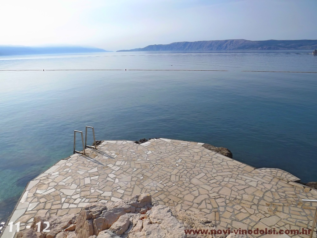 beautiful sea in novi vinodolski